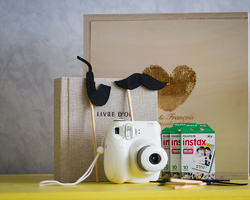 Photo Polaroïd + accessoires rétro photo